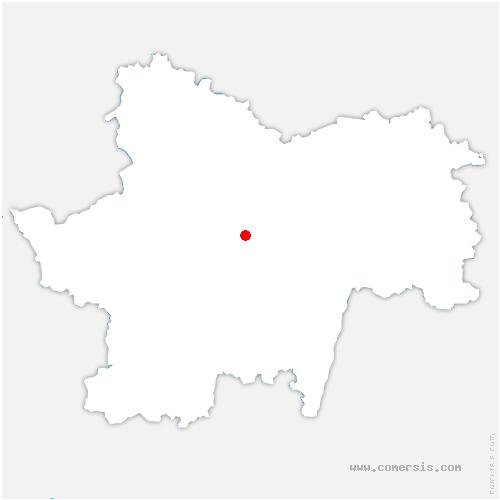 carte de localisation de Collonge-en-Charollais