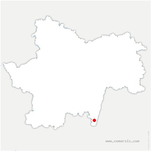 carte de localisation de Crêches-sur-Saône