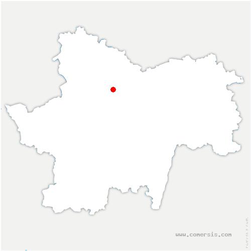 carte de localisation du Creusot