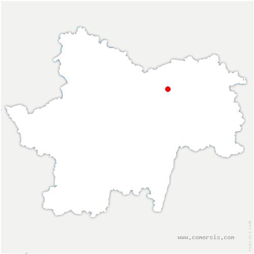 carte de localisation de Crissey