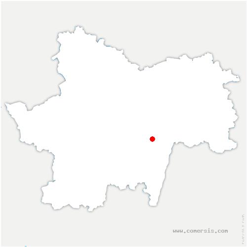 carte de localisation de Cruzille