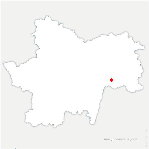 carte de localisation de Cuisery