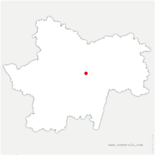 carte de localisation de Culles-les-Roches
