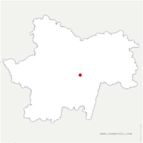 carte de localisation de Curtil-sous-Burnand