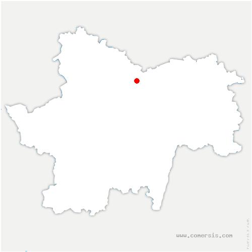 carte de localisation de Dennevy