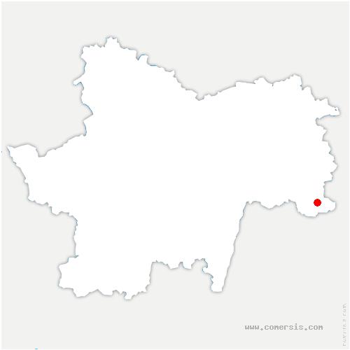 carte de localisation de Dommartin-lès-Cuiseaux