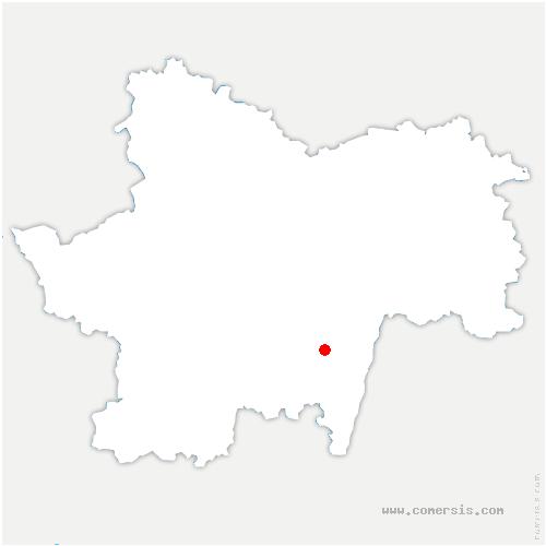 carte de localisation de Donzy-le-Pertuis