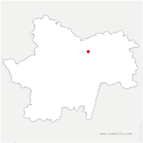 carte de localisation de Dracy-le-Fort