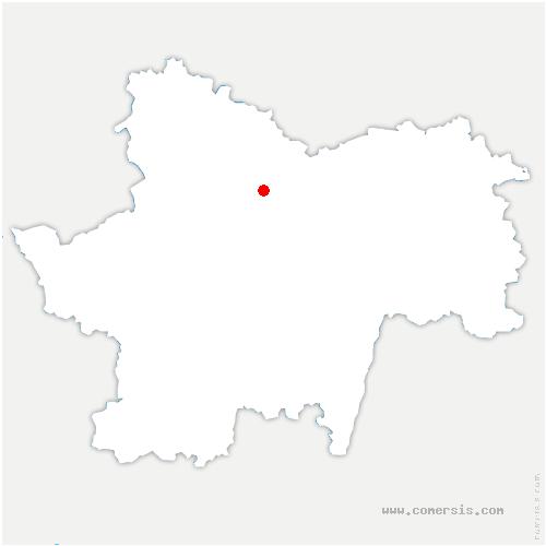 carte de localisation de Essertenne