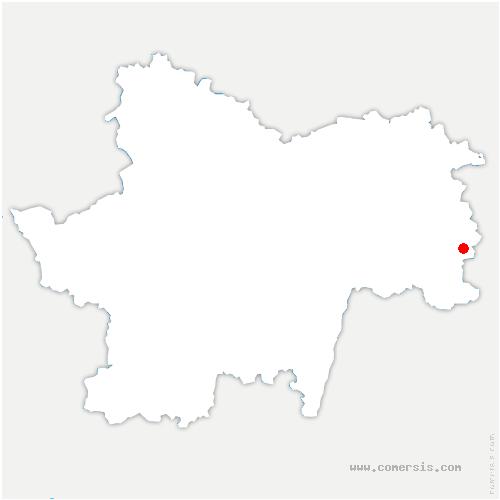 carte de localisation de Flacey-en-Bresse