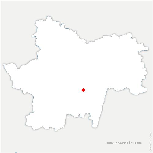 carte de localisation de Flagy