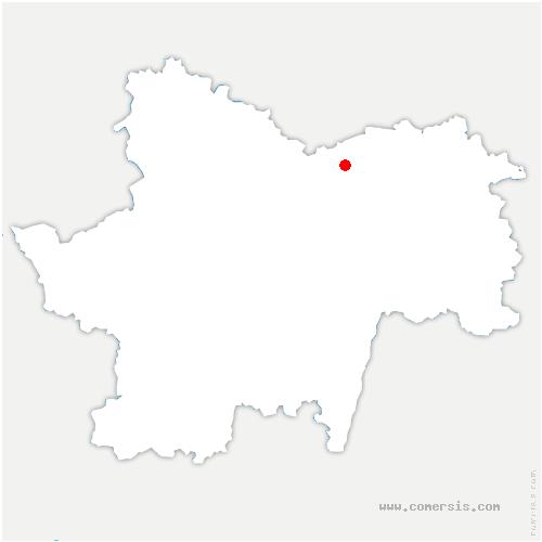 carte de localisation de Fontaines