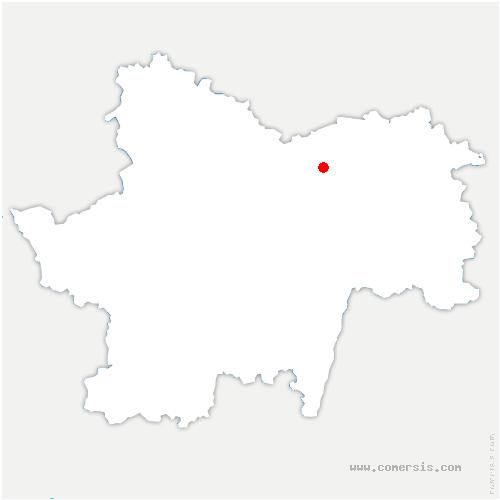 carte de localisation de Fragnes-la-Loyère
