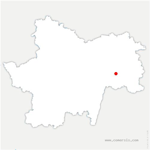 carte de localisation de Frette