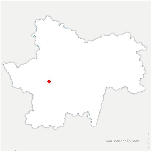carte de localisation de Génelard
