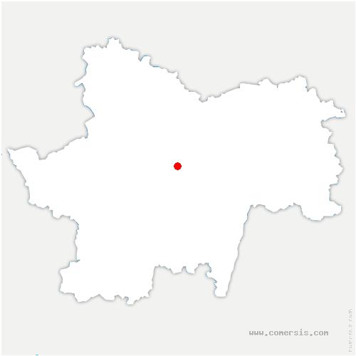 carte de localisation de Genouilly