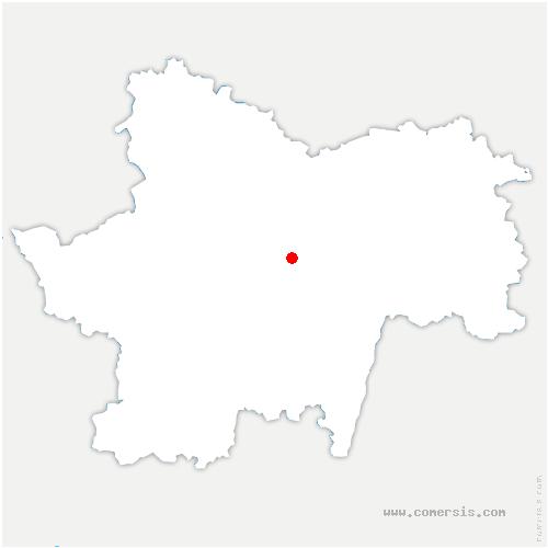 carte de localisation de Germagny