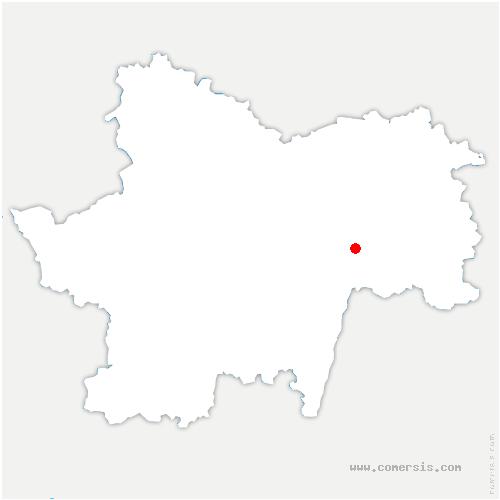 carte de localisation de Gigny-sur-Saône