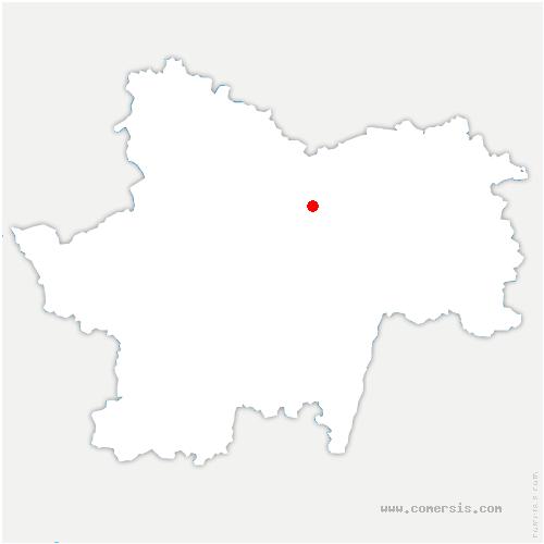 carte de localisation de Givry