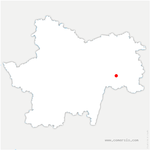carte de localisation de Huilly-sur-Seille