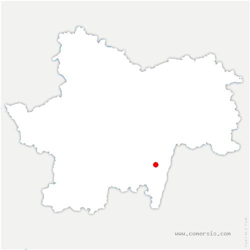 carte de localisation de Igé
