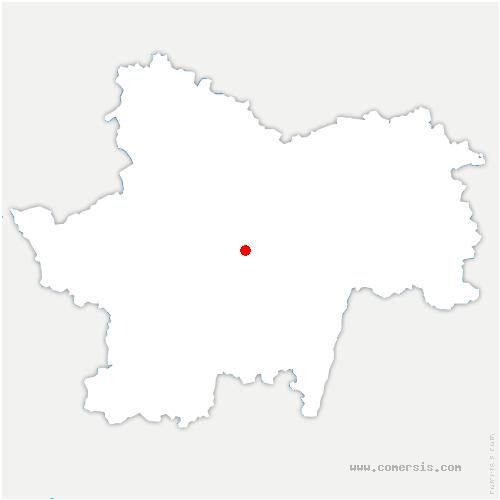 carte de localisation de Joncy