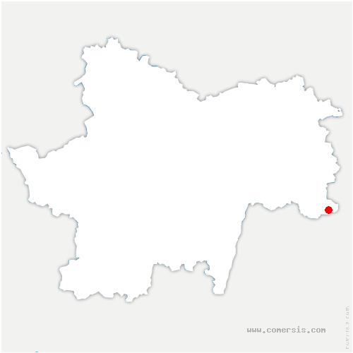 carte de localisation de Joudes