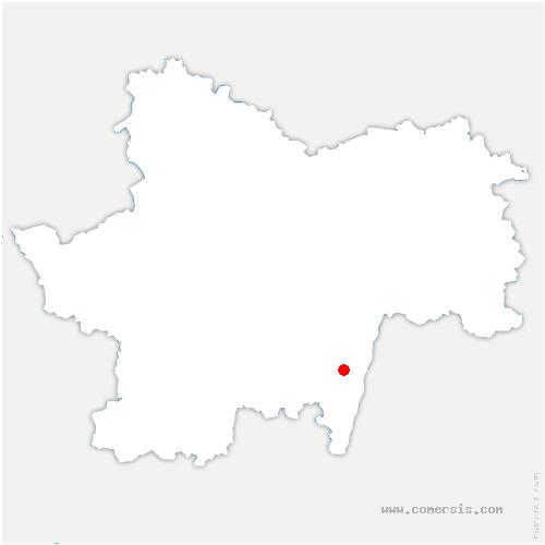 carte de localisation de Laizé
