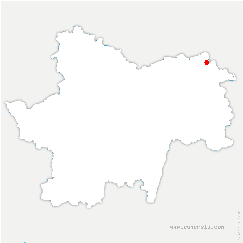 carte de localisation de Lays-sur-le-Doubs