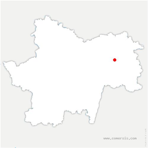 carte de localisation de Lessard-en-Bresse