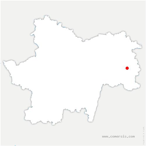 carte de localisation de Louhans