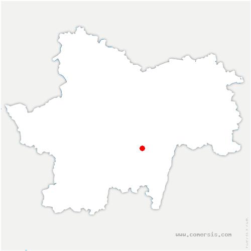carte de localisation de Massilly