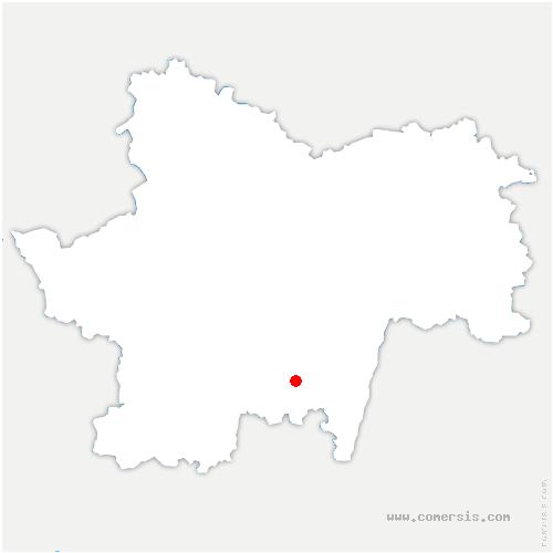 carte de localisation de Mazille