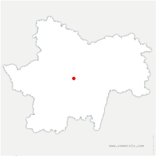 carte de localisation de Mont-Saint-Vincent