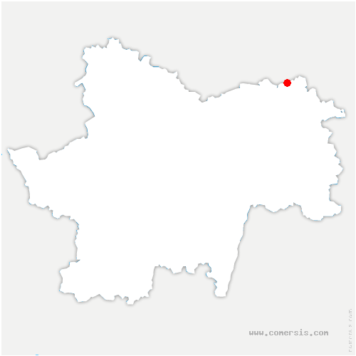 carte de localisation de Mont-lès-Seurre