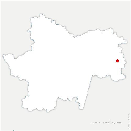 carte de localisation de Montagny-près-Louhans