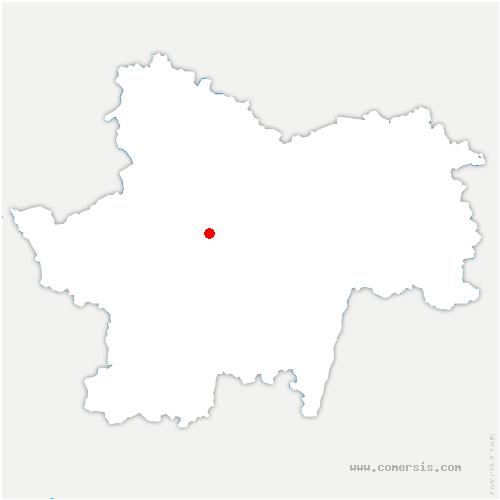 carte de localisation de Montceau-les-Mines