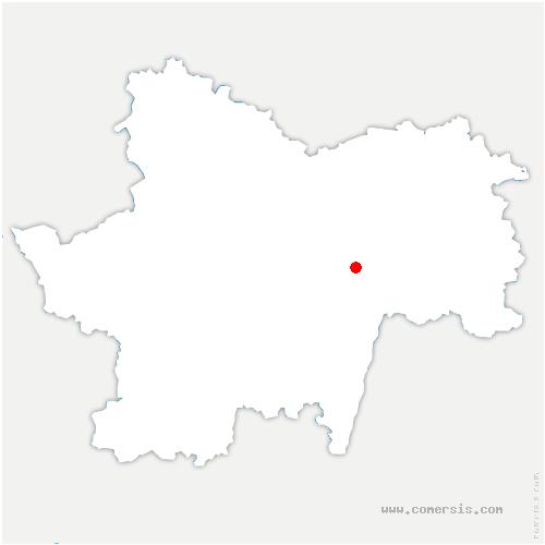 carte de localisation de Montceaux-Ragny