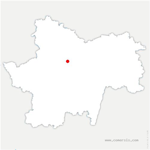 carte de localisation de Montchanin