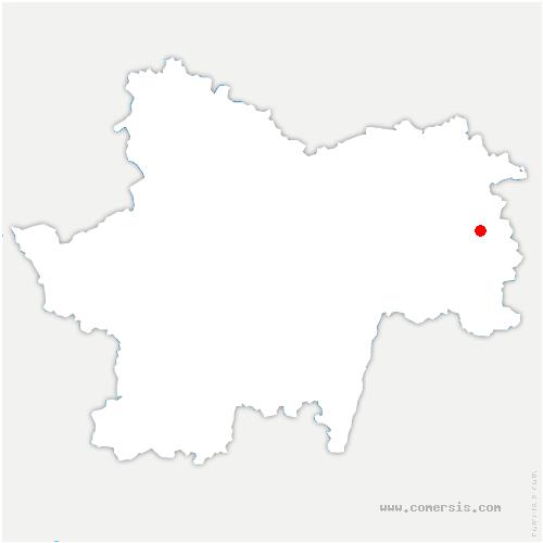 carte de localisation de Montcony