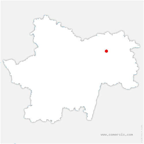 carte de localisation de Montcoy
