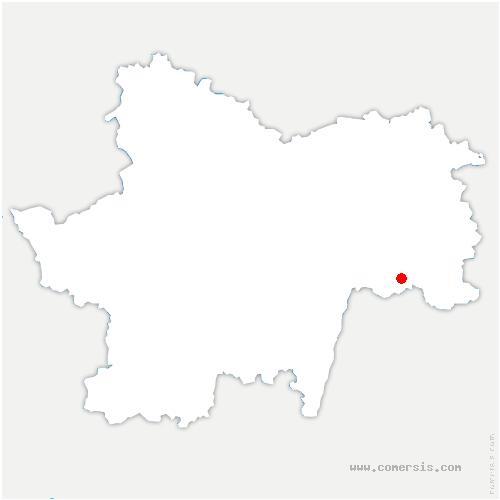carte de localisation de Montpont-en-Bresse