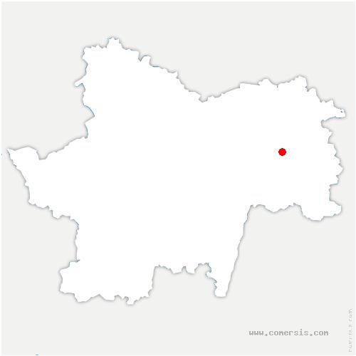 carte de localisation de Montret
