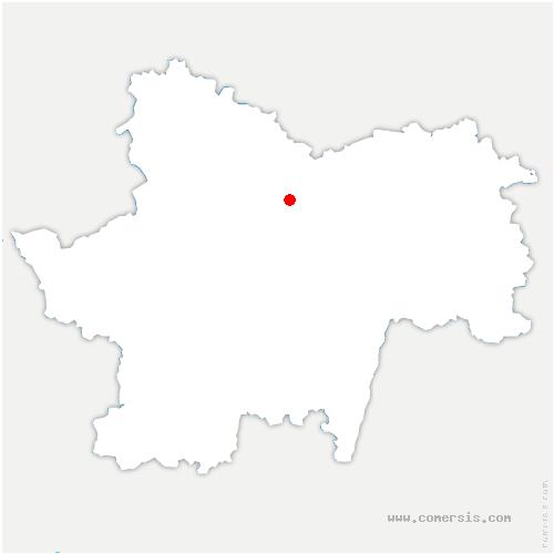 carte de localisation de Morey