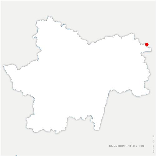 carte de localisation de Mouthier-en-Bresse