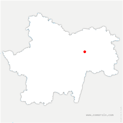 carte de localisation de Ouroux-sur-Saône