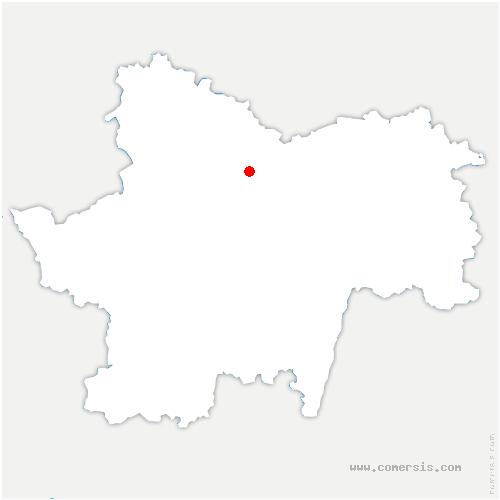 carte de localisation de Perreuil