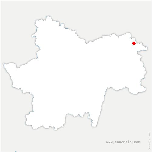 carte de localisation de Pierre-de-Bresse