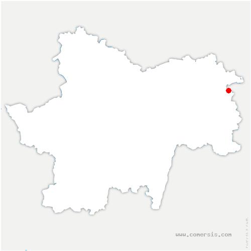 carte de localisation de Planois