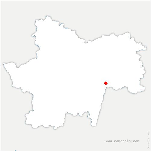 carte de localisation de Préty